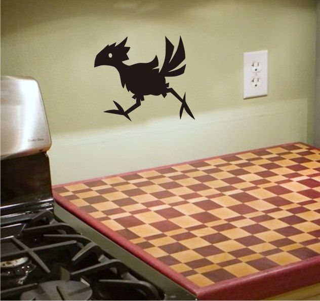 Chocobo VInyl Decal Comes With Application Instructions - Custom vinyl decal application instructionsapplication etsy