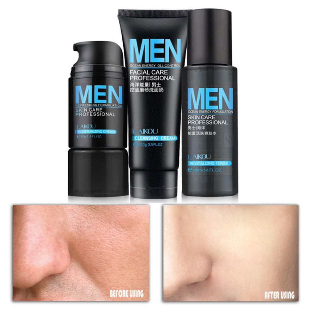Mens Deep Cleansing Facial Kit Professional Skin Care Products Skin Cleanser Products Skin Care Cleanser