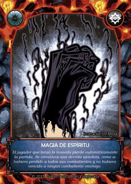 Reverso: Magia de Espíritu / Rear side: Spirit Magic. Art by MOTA and Ake Mora