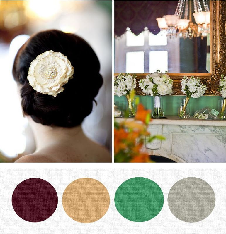 shopping palette: eggplant, gold, teal & gray | Perfect Bound