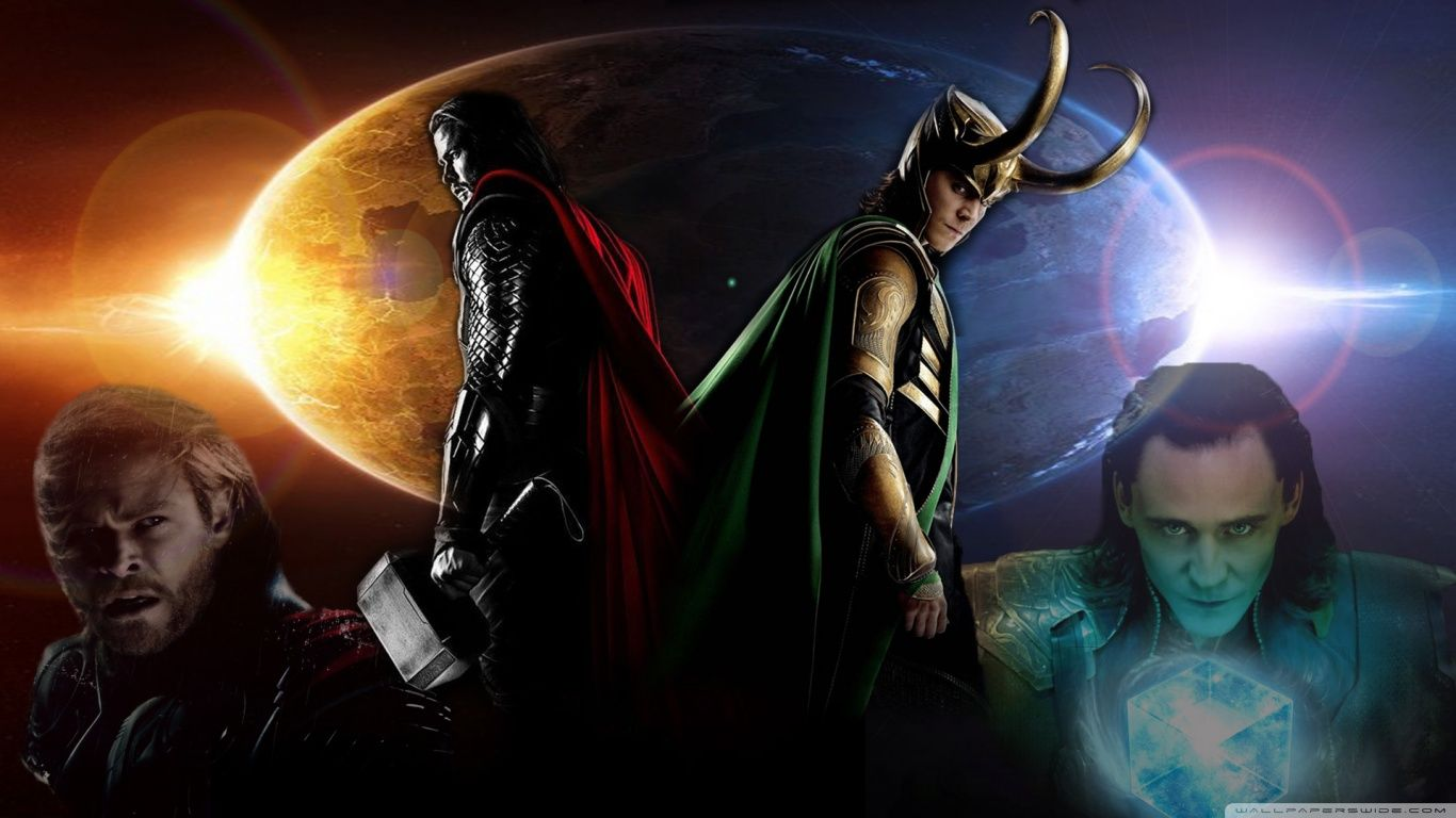 Thor And Loki Hd Desktop Wallpaper High Definition Avengers In