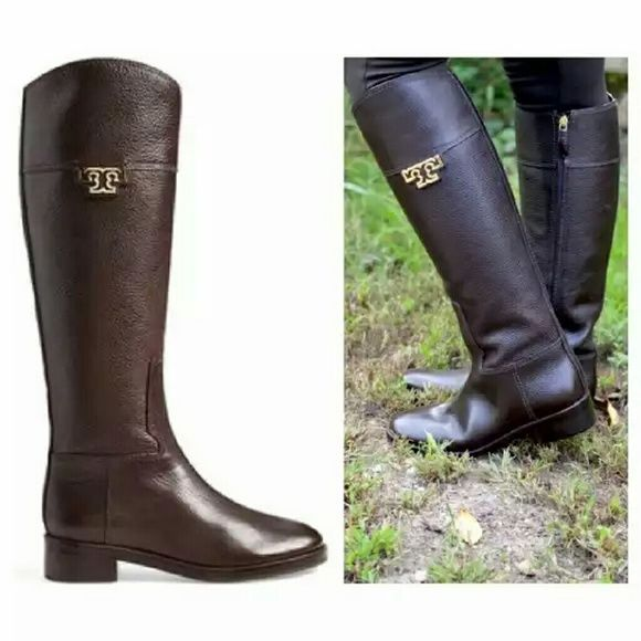 a2ed40cf52f Tory Burch  Joanna  Riding Boots 2 DAY SALE - FINAL REDUCTION!! PRICE WILL  RETURN TO  345 ON 4 24 16. BRAND NEW Tory Burch  Joanna  Riding Boots  Chocolate ...