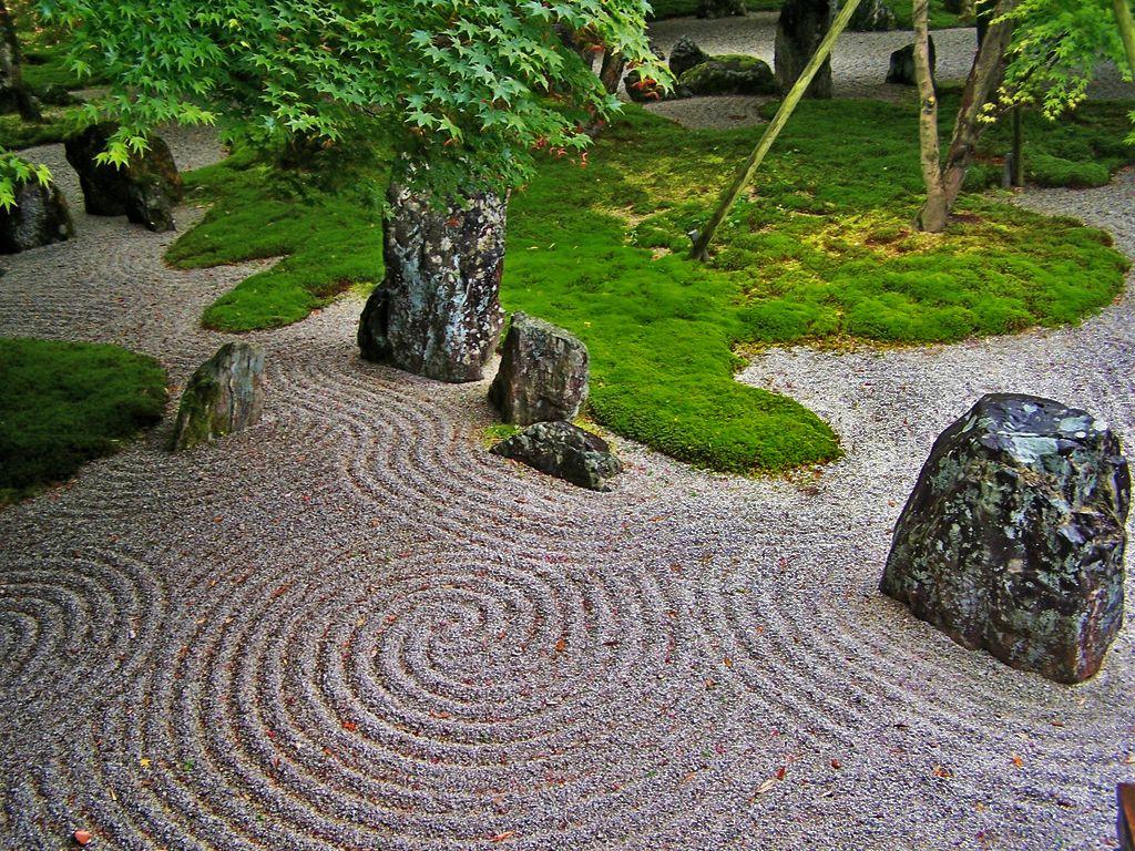 The Japanese rock garden or zen garden, creates a ... Mini Japanese Rock Garden