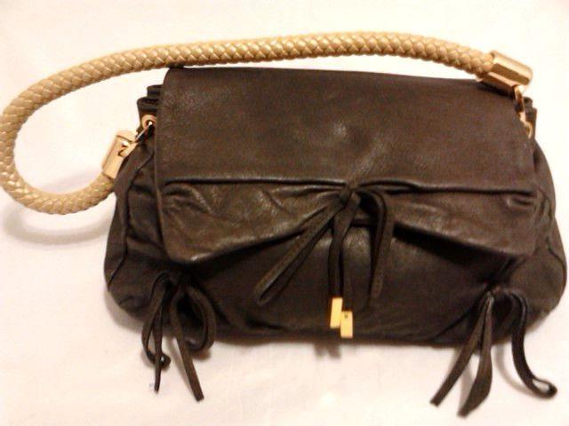 Gianni Bini Handbags Leather Shoulder Bag Brown Purse Handbag