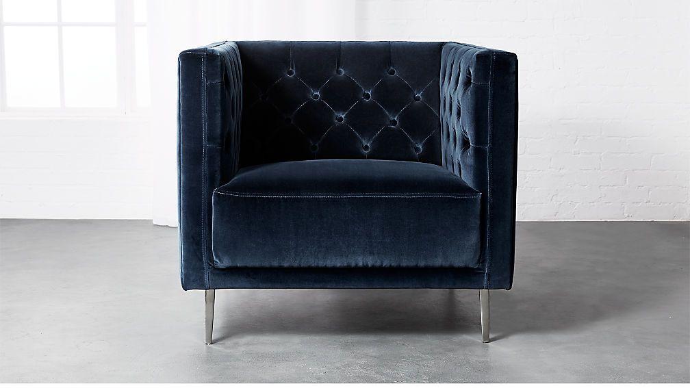 Savile Midnight Blue Velvet Chair Blue Velvet Chairs Velvet