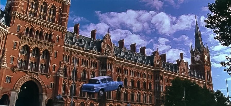 Harry Potter And The Chamber Of Secrets King S Cross Station Flying Ford Anglia Ford Anglia Chamber Of Secrets Potter