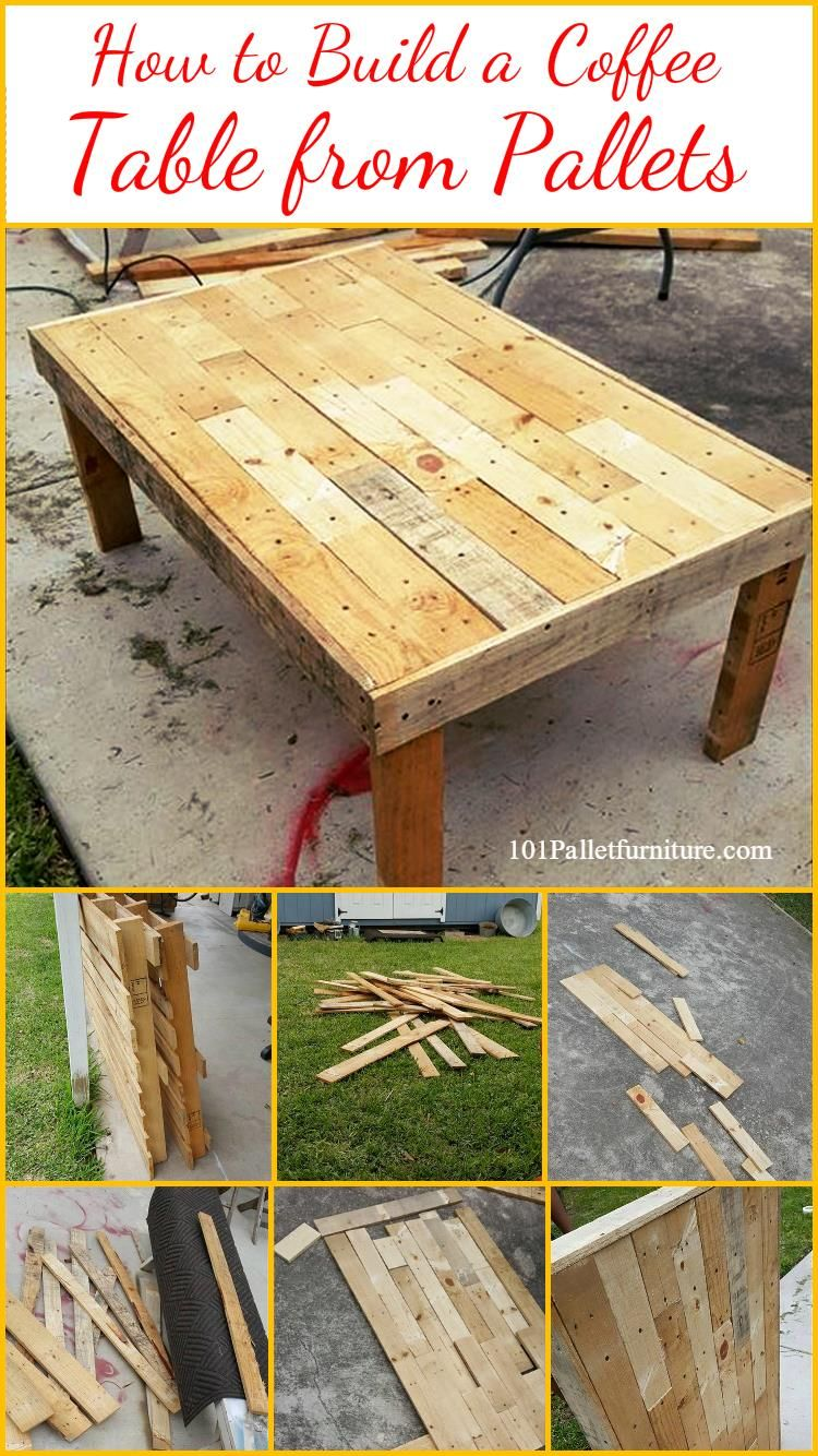 How to Build a Coffee Table from #Pallets | Pallet Furniture