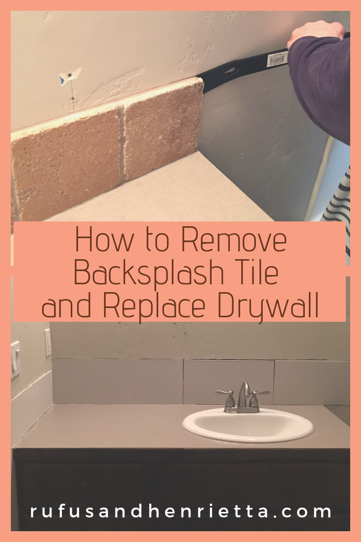 - How To Remove Backsplash Tile And Replace Drywall - ORC Week 2