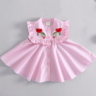 Vestido de verano de patrón rosa