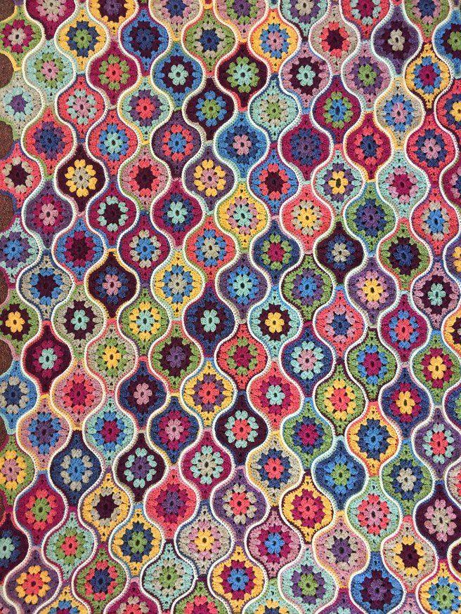 Mystical Lanterns Crochet Blanket in Stylecraft Life DK | Häkeln ...