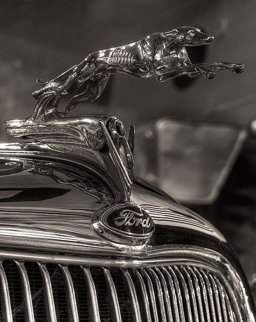 Nothing Outrun My V 8 Ford Hood Ornaments Car Hood Ornaments