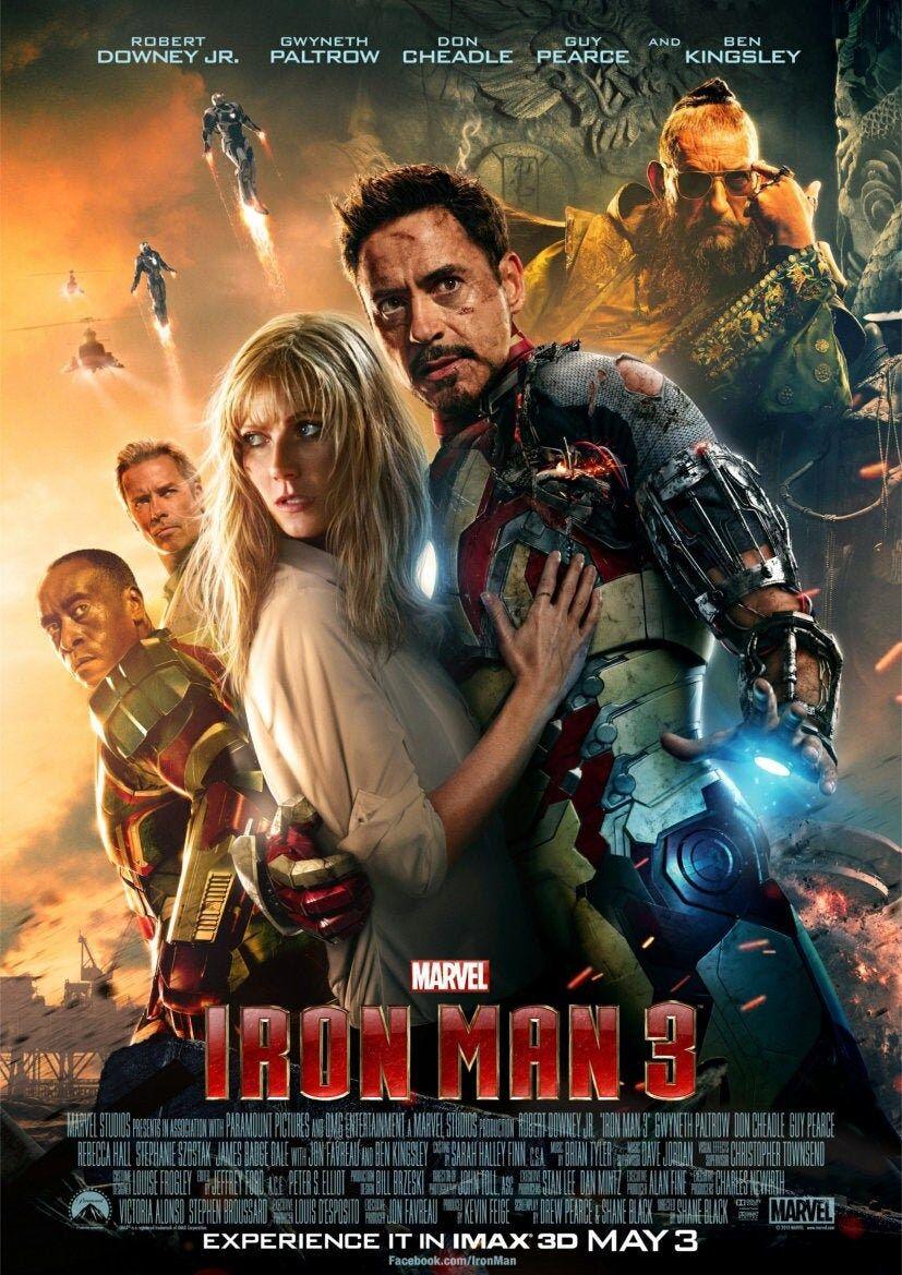 Iron Man 3 2013 Movie Poster A5 A4 A3 A2 A1
