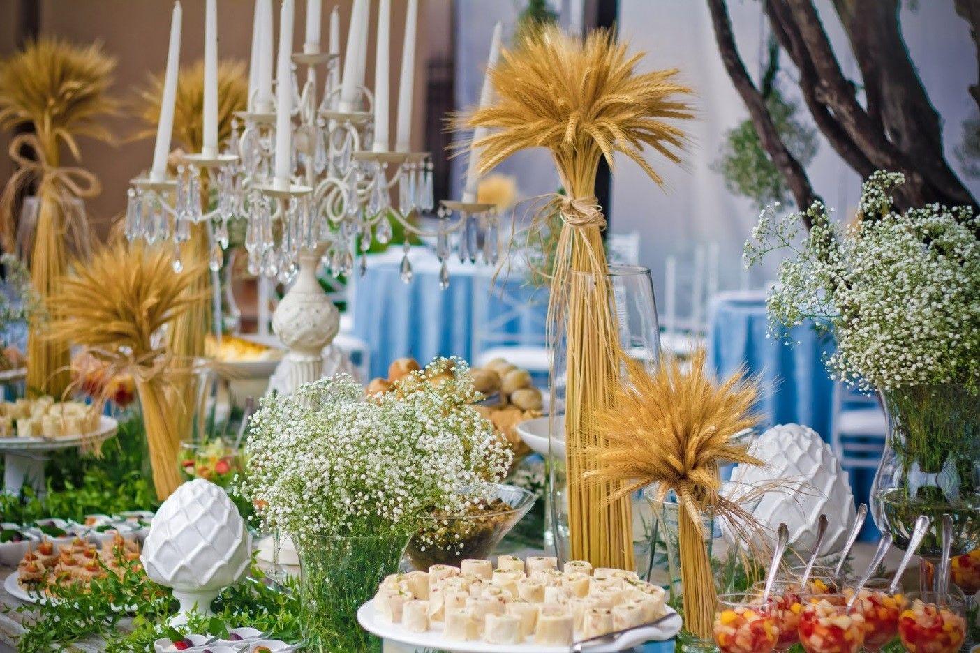 Resultado de imagem para decoração de casamento com TRIGO