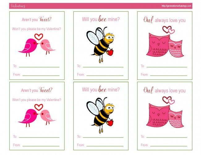 Awesome Free Printable Valentines Day Cards – Free Print Valentine Cards
