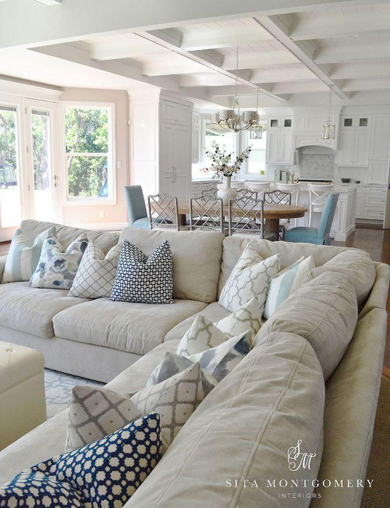99 cozy and stylish coastal living room decor ideas (26