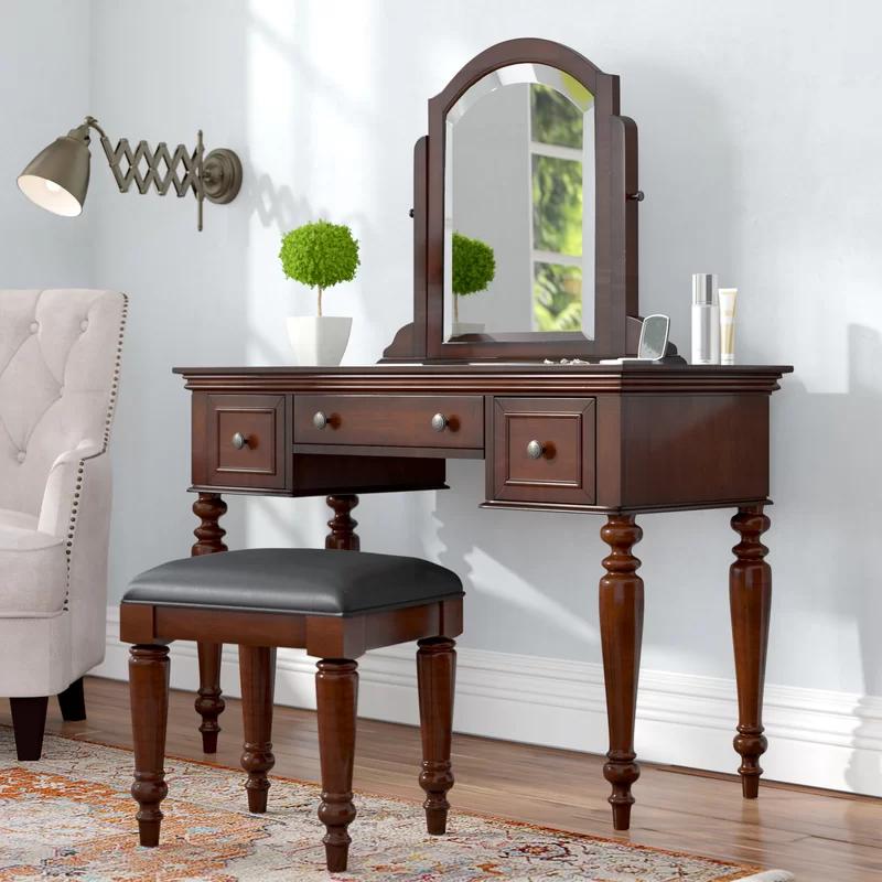 Rossie Vanity Set with Mirror in 2020 Vanity set with