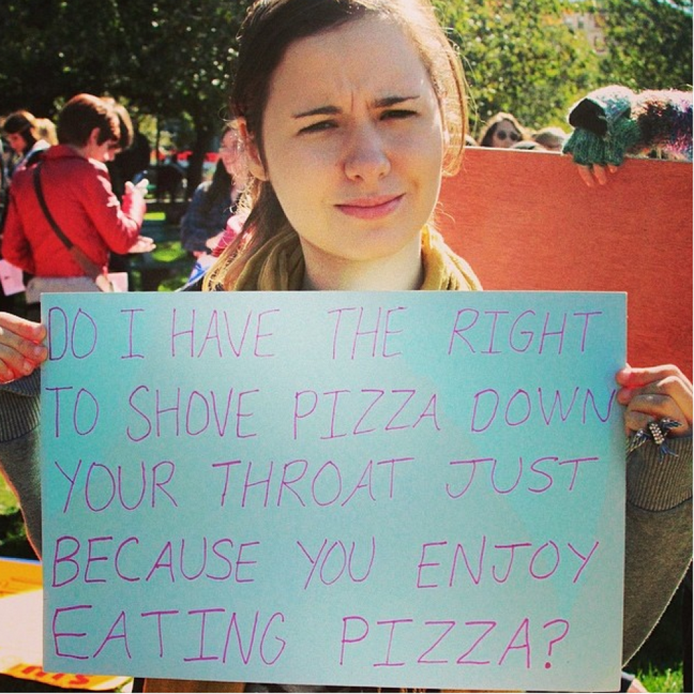 31 Women Show Us the Right Way to Respond to Common Excuses for Rape - #14 is the best one.