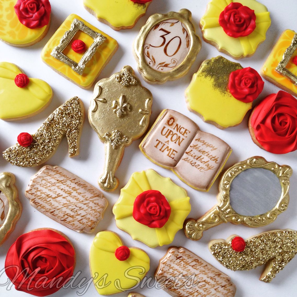 Belle beauty and the beast cookies
