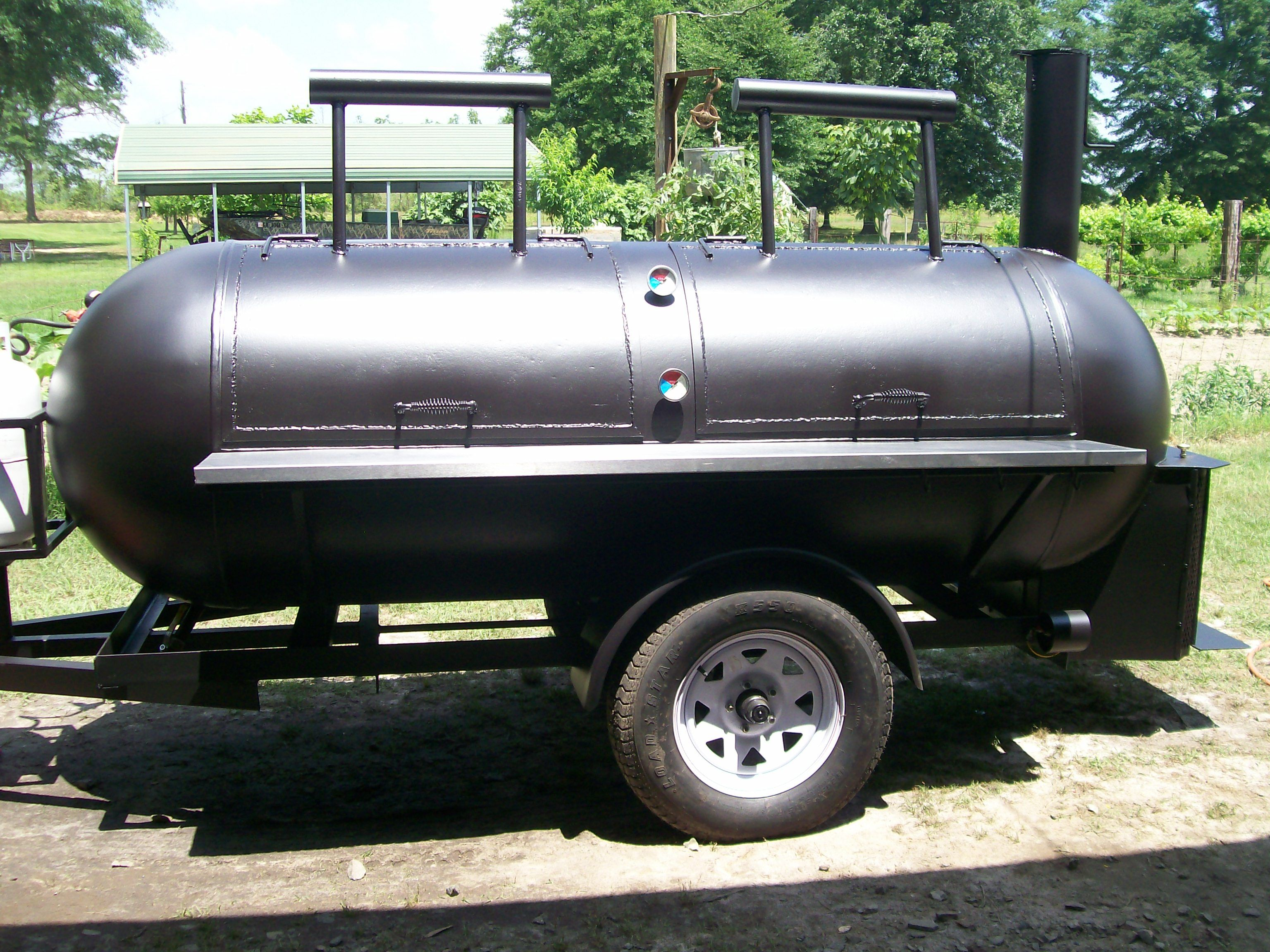 Pin By Cha Art Cha On Propane And Grills Custom Bbq Smokers Smoker Plans Bbq Pit