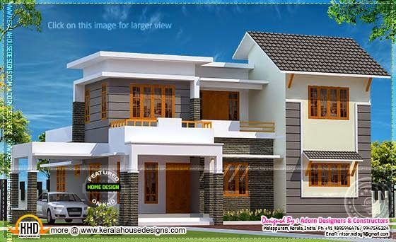Elegant Home In 1850 Square Feet Kerala House Design Small