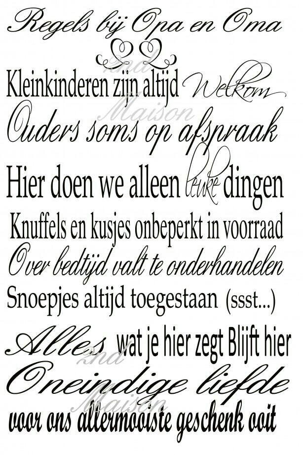 Citaten Regels : Regels bij oma en opa spreuken mooi teksten