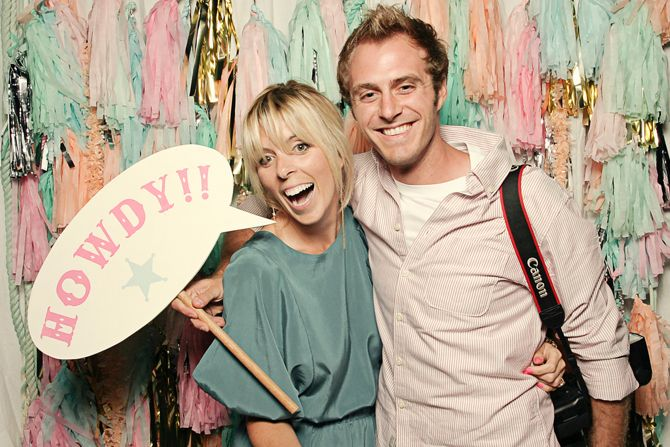 confetti systems photo booth backdrop (I heart Smile booth)