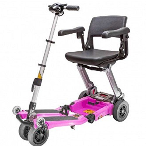 Free Rider Usa Luggie Elite Compact Lightweight Foldable Scooter 4wheel Pink Detailed Information Can Be Found By Clic Foldables Mobility Scooter Scooter