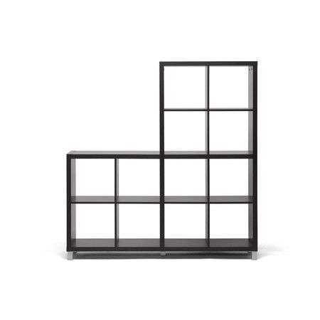 Modern Style Bookcase With 12 Cube Shaped Storage Compartments Product Bookcaseconstruction Material Cube Shelving Unit Wholesale Interiors Shelves
