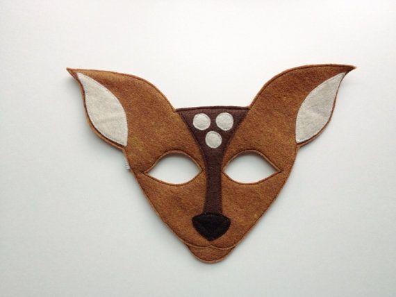 Deer Mask CHILD by oppositeoffar on Etsy party Pinterest