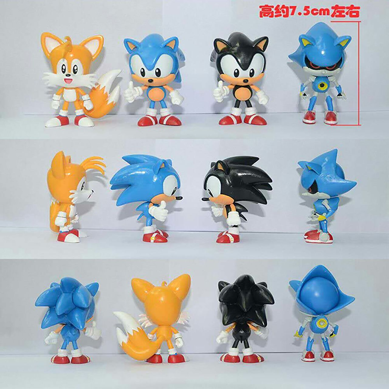 4pcs Set Sonic The Hedgehog Action Figures 1 12 Scale Painted Sally Tails Antoine Doll Pvc Action Figu Action Figures Toys Sonic Figures Sonic Birthday Parties