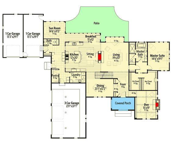 Plan 970035vc Distinguished Tudor House Plan House Plans House Floor Plans Tudor House