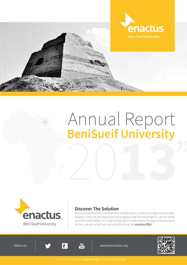 Enactus BSU - Annual Report and Presentation by Ahmed Gad, via - annual report template word