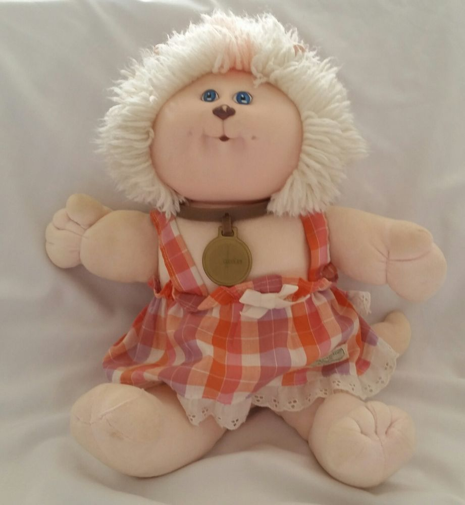 Cabbage Patch Kids Koosa Lion White Hair Blue Eyes with License Tag ...