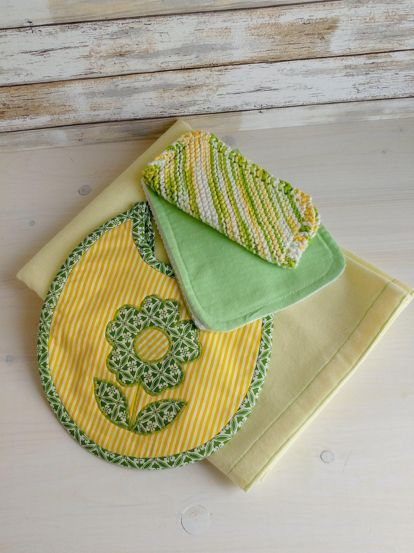 Baby girl newborn gift set receiving blanket and feeding