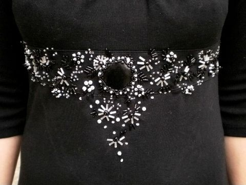 Вышивка на платье.   biser.info - всё о бисере и бисерном творчестве