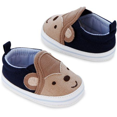 Child of Mine by Carter s Newborn Baby Boy Slip-On Monkey Sneaker Shoes cad1ecd5d