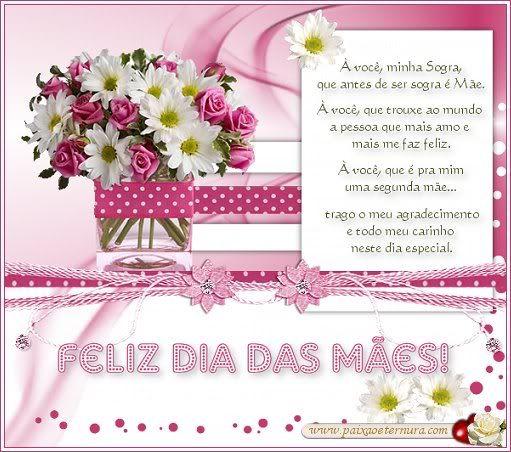 A Você Minha Sogra Meu Agradecimento E Carinho Feliz Dia Das Mães Gabi