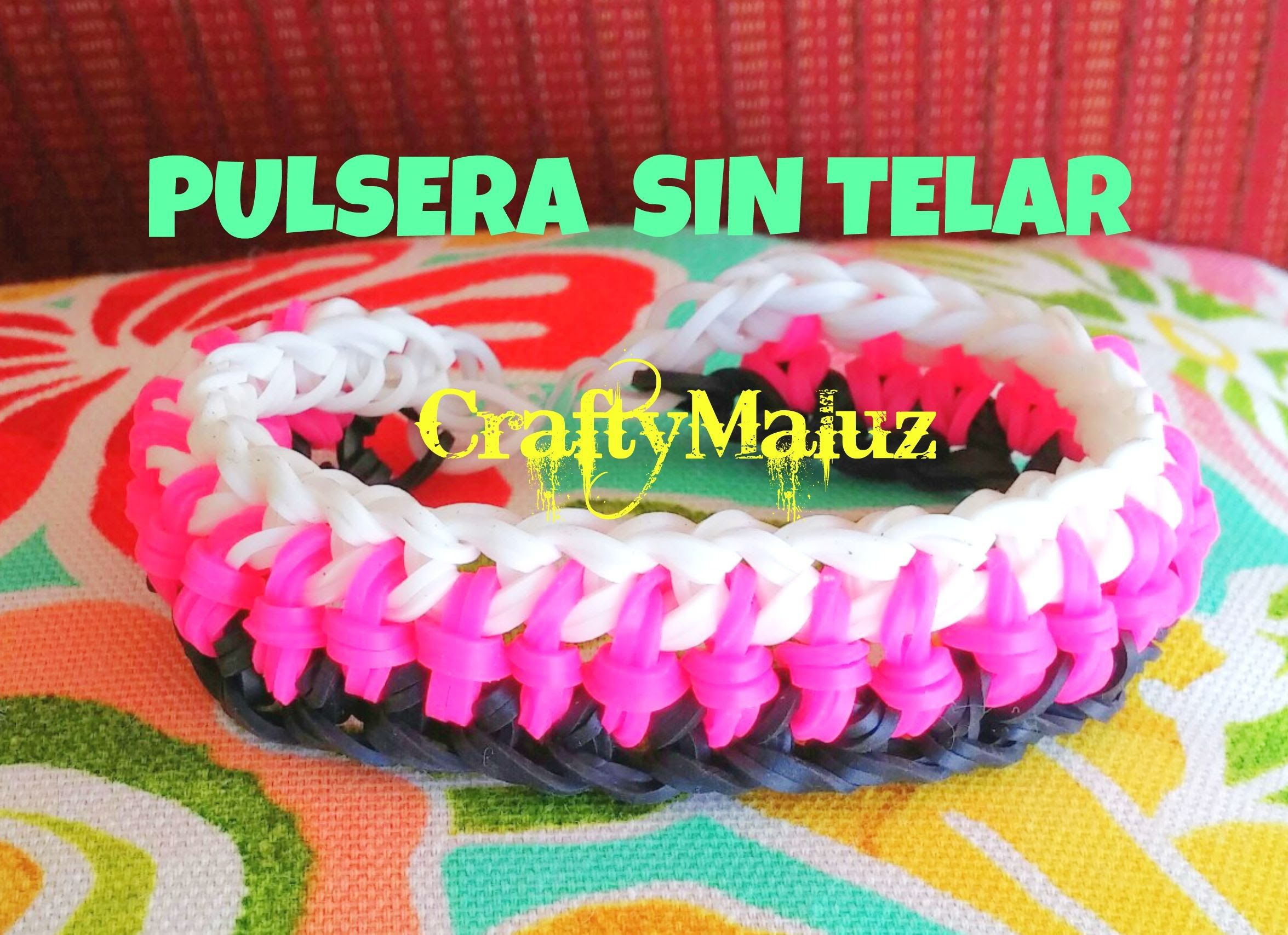 DIY : Pulsera Doble Nudos Central de Gomitas ( SIN TELAR)