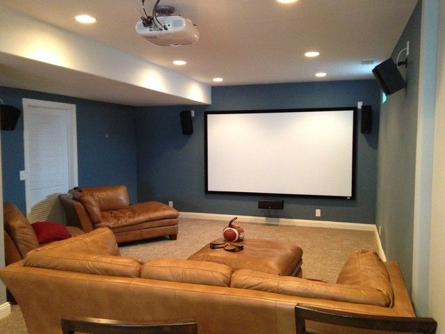 15 Awesome Basement Home Theater [Cinema Room Ideas] | Low Ceiling Basement,  Basements And Theatre Design