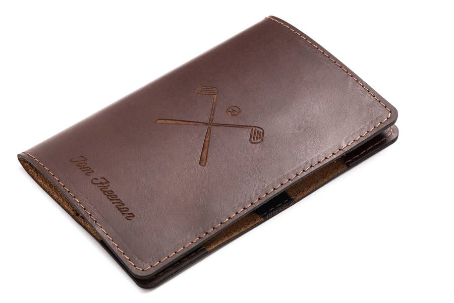 f908aababc3ad Personalised Leather Golf Scorecard Holder | Golf Gift Ideas | Golf ...