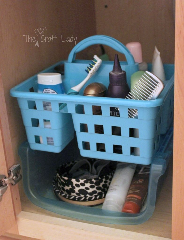 Dollar Store Bathroom Organizing | Organizing, Tubs and Organizations