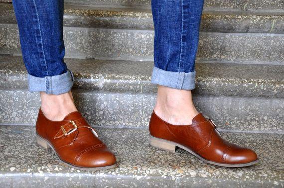 d6339ff0fdf Duke - Womens Oxfords, Monk Straps, leather shoes, Womens monk shoes ...