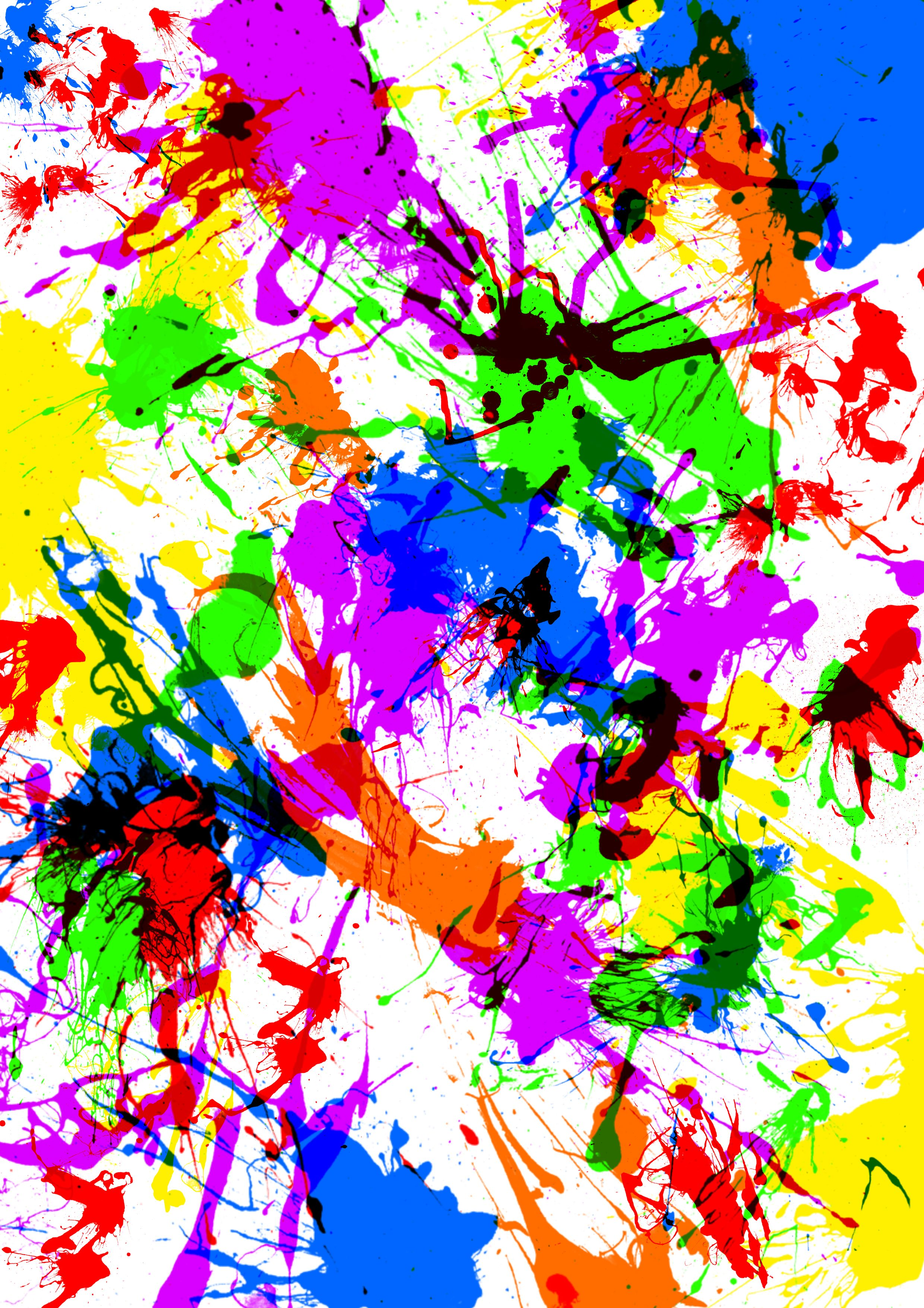 Splash Background Indicates Paint Colors And Splattered
