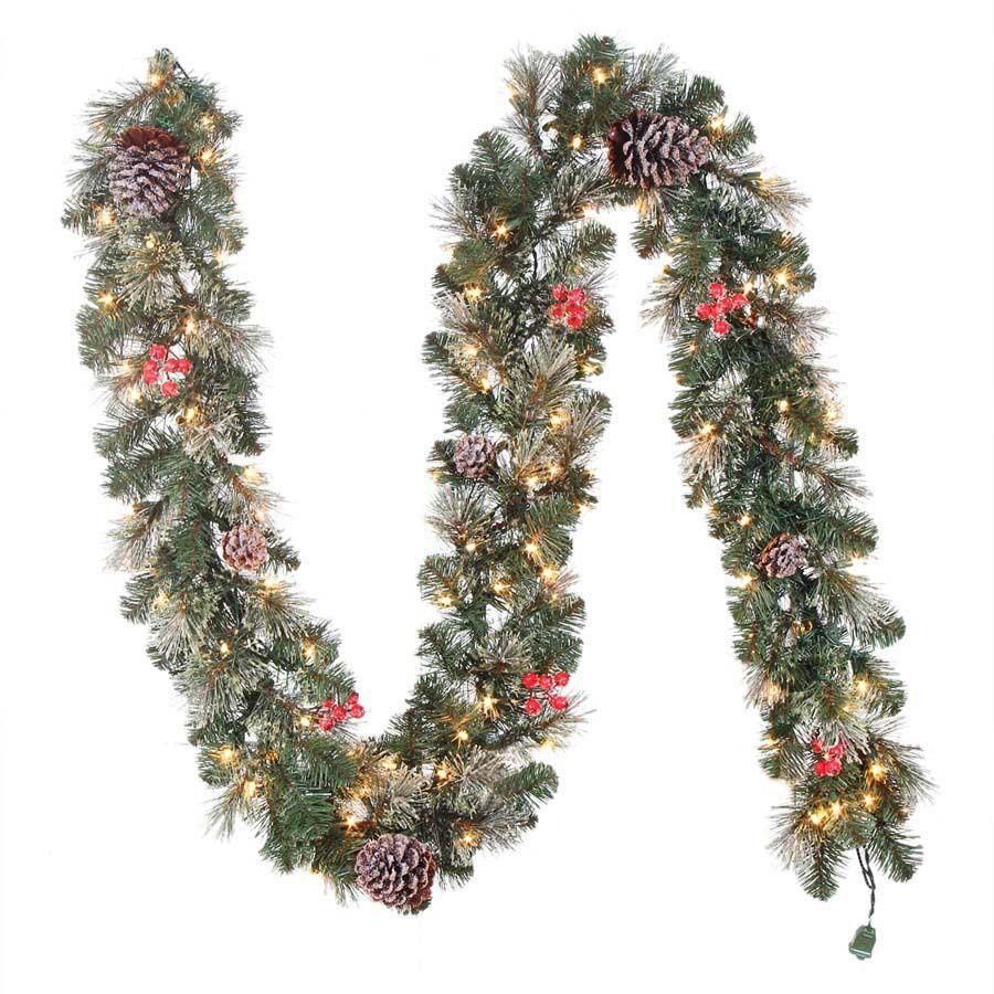 Shop Hallmark 9.5-in x 9-ft Pre-Lit Pine Artificial Christmas ...
