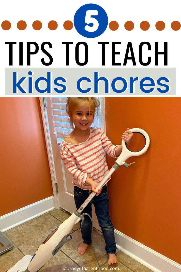 5 tips to teach kids how to do chores. Doing Spring Cleaning? Want kids to pitch in around the house during this time at home? Here are simple ways to encourage kids to help with chores at home! #kidschores #teachingchores #chores #springcleaning