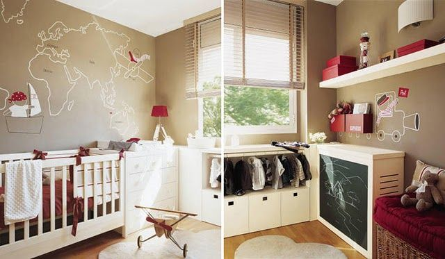 map inspired nursery.... If I have a little boy