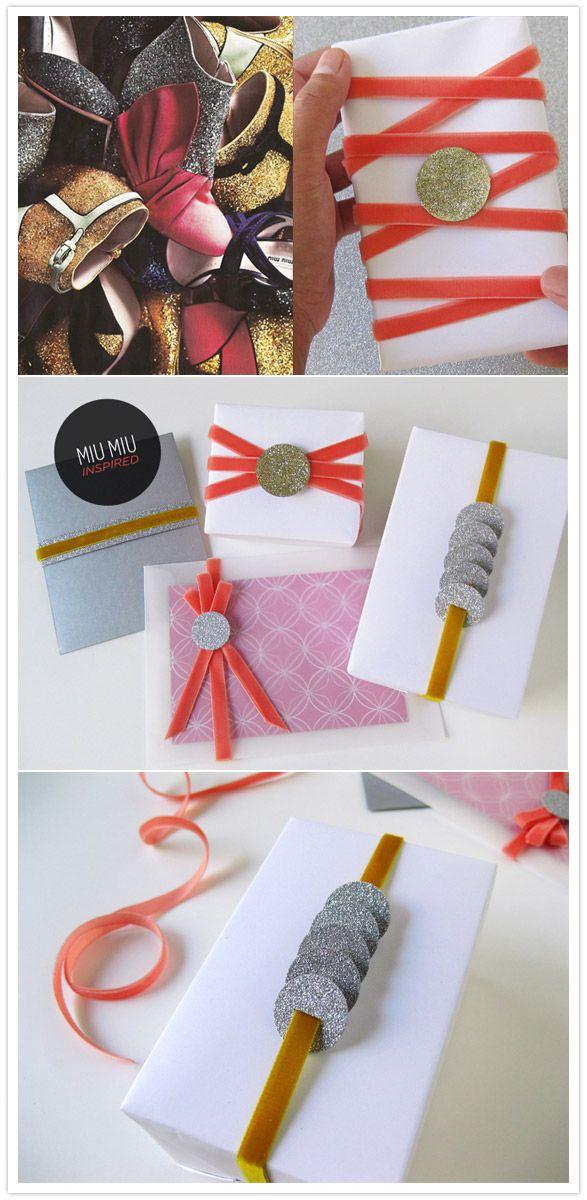 Miu Miu Inspired Gift Wrap Nifty Packaging Gifts Gift Wrapping Creative Gift Wrapping