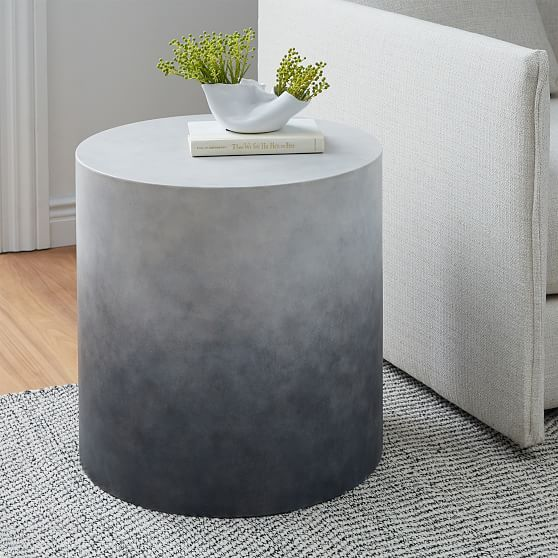 Hex Side Table Antique Brass In 2020 Contemporary End Tables