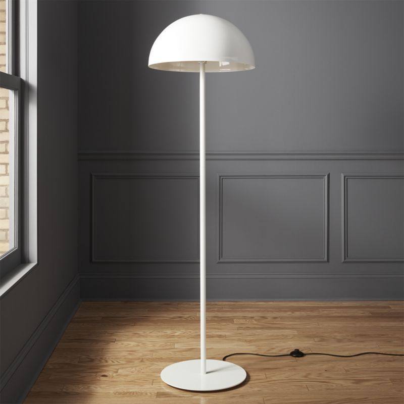 Shop Hanna White Floor Lamp Casting A Classic Dome Shape In New Light This White Floor Lamp Is An Exclusive Design By Mermelada E White Floor Lamp Floor Lamp Modern Floor