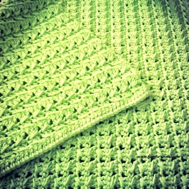 Copertina Di Cotone Alluncinetto Crochet